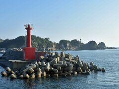 網地港到着。  網地島は【アジシマ】と読みます。