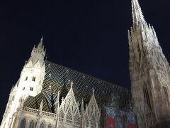 ケルントナー通りを散策しました。 歩いてたら突然現れたシュテファン大聖堂にびっくり! 鐘の音が素敵でした。