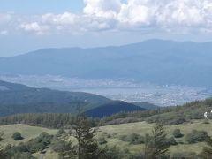 入笠山から諏訪湖