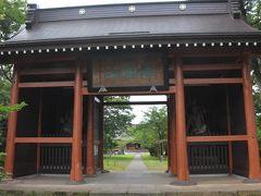 すぐそばにあった五智国分寺へ 天保年間に再建された山門