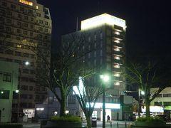 泊まるのはこちら、向かって一番右側にあるスーパーホテル米子駅前。 ここでも十分駅から近い距離なのに、他のホテルが近距離過ぎて損してます。