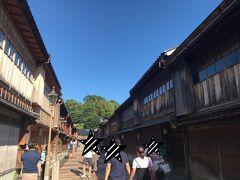 体験後はひがし茶屋街へ。メインの道は人が多いのでなかなかいい写真が撮れない^^; かの有名な金箔ソフトも色々なお店で販売されています~。