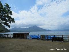 風不死岳・樽前山も、山の形がはっきりと見えました。