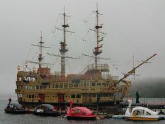 乗ってみたかった、昨年新造されたクイーン芦ノ湖が、運良く箱根町港に係留されていた。