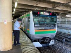 密を避けて…ということで選んだのは鬼怒川のSL。 空席情報をポチポチして、朝時点でも空いていそうだったので行ってみることにしました。  まずはJR宇都宮線に乗って宇都宮駅へ。