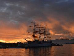 海の貴婦人と呼ばれていた引退した海王丸が係留されている海王丸パーク