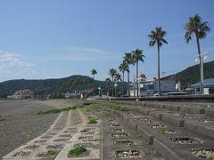 ●志原海岸  志原バス停で下車しました。 バス停からすぐの志原海岸です。 南国感ありあり~!