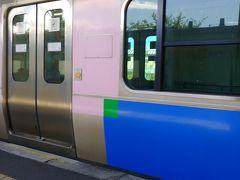 高城町は 松島の住宅地です 快速に乗り換えて 石巻へ向かいます