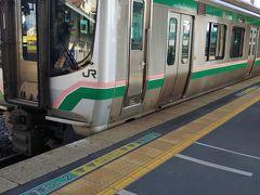 小牛田で 東北本線で 仙台へ帰ります 乗り換えなし
