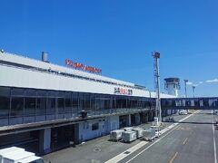 出雲縁結び空港に到着しました。