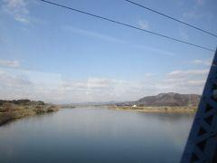 常磐線に入った列車は、まもなく阿武隈川を渡ります。