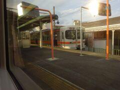 西富士宮駅。 ここまでが富士宮の市街地で、折り返す電車も多い。