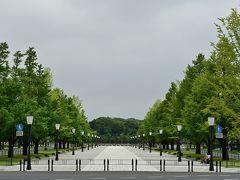 ●行幸通り  で、そのまま歩き、東京駅と皇居を一直線に結ぶ「行幸通り」へ。 この向こうは皇居ですが、また別のタイミングでゆっくりと周辺散策しようかと思ってます。