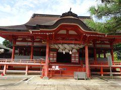 「日御碕神社」   あれ、いきなり拝殿? 裏口から入っちゃった?