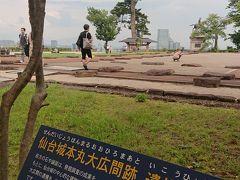 続いて、またバスに乗って仙台城跡へ移動。