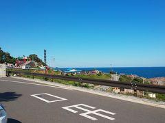 海沿いから狭い山の道を通って10時過ぎに到着 10分ほど駐車場待ち