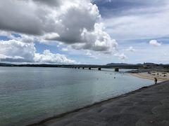古宇利大橋は古宇利島と屋我地島を結ぶ橋梁です。 こちらは古宇利島からの眺めです。 小さいですが、ビーチもあります。