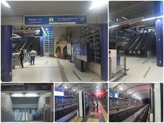 Hang Tuah駅到着 改札出ずにモノレールに乗り換え、 エスカで上ったら階段で下ってホームへ。 ホームドアが故障中か開きっぱなし。
