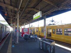 【その1】からのつづき  出雲空港からバスで直江駅に移動。 直江駅から、黄色い115系電車に乗って、米子駅に着いた。