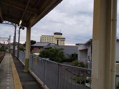 ホテルを通り越して志摩横山駅。泊っているホテルが見えてます。やっぱりここからだとホテルまで近い