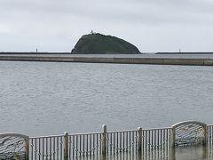 白鳥大橋のほとり「道の駅みたら室蘭」から大黒島
