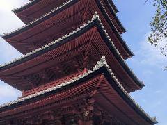 本堂に向かって右側には五重塔もありますので、そちらも見学します。この先に力道山のお墓もあると書いてありました。