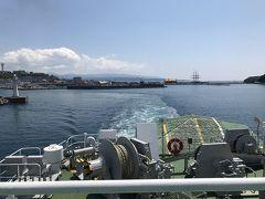奥尻島行きフェリー江差港13:00発 江差バイバイ