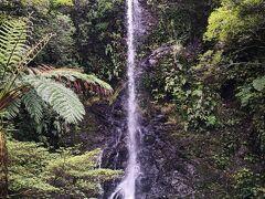さらに進んで行きます。 嘉入の集落から進んだところに、滝があります。 典型的な滝!これがまた道路沿いにあってアクセス容易すぎて感動。 大体滝って山登ったり、ハイキングしたりしてアクセスするものだと思ってたから。。。