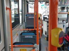茶箱を抱えてバス停まで戻ります。暑い・・・。