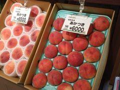福島駅ナカの果物屋はさすがに高級~。