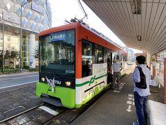 それではここからは市電に乗ってJRの松山駅を目指します。 始め逆方向(道後温泉行き)に乗りそうになったのは内緒。
