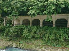 函嶺洞門と早川