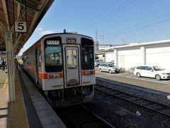 伊勢奥津行の電車はキハ11系でした。