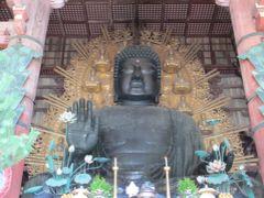 昨日は混んでてパスした東大寺の大仏様。やっぱりここは外せません。今日は朝10時ごろ訪問。もちろんすんなり入れました。いつ見ても優しいお顔。 出た時はすでに行列が。。グッドタイミング!