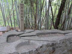 亀形石造物の上にある酒船石。ブラタモリでもやってましたね。ここは占いに使われた説。20年前に下で亀形が見つかって、占い説が有力になったそう。