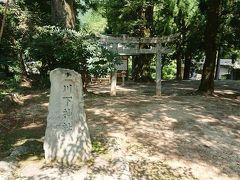 川下神社。ここの奥の川床の岩に弁財天が祀られている。 働く女性の味方弁財天様!