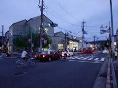 終点・出町柳駅に着くころには、あたりは暗くなっていました。