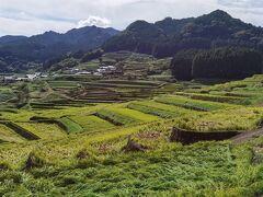 鬼木の棚田です。 日本の棚田100選にも選ばれている棚田で、大変美しい風景が目の前に広がりました