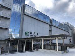 水戸駅に戻り、駅ビルでお昼ごはん(お寿司)を買いました。 水戸の滞在時間は約1時間。