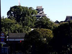 おっと、熊本城が遠くに見えてきた。