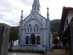 教会もあります。小京都と教会という対照的な建物。