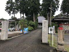 第19番札所の東光寺(入間市小谷田)に到着。 蓮花院から4キロちょっと1時間10分の道のりでした。