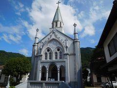 その小京都らしい古い街並みの中に西洋風のカトリック教会がある。