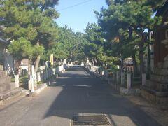 法隆寺駅前からの参道です。