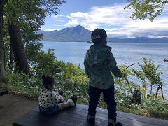 荷物を預けて支笏湖散策