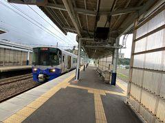 ★11:37 能生駅で列車を下車。