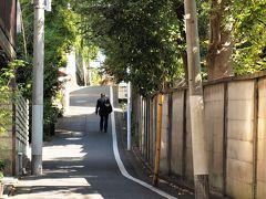 三浦坂 かつて美作国(現岡山県北部)真島郡勝山二万三千石の藩主・三浦家の下屋敷があったことからその名が付いたといわれる坂です。細くて急な坂で、下り用の一方通行です。