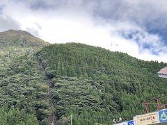 鶴見山上へ約10分のロープウェイの旅