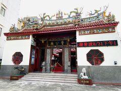 もともと鳳儀書院内にあり、日本時代に現在の場所に移った曹公廟。