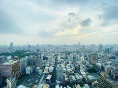 高雄漢来ホテルの客室から見えた6時41分の景色。